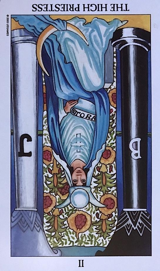 reversed high priestess